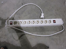 Multiple socket outlet, 9-fold, with CP, with 2 switches, 3.7 m, wh-wh 00149201