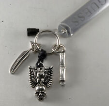 Guess Designer Eagle & Skull Necklace Cell Phone Charm