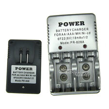 AA AAA 9V Volt 10440 14500 6F22 PP3 PR-828 rechargeable battery charger US CAN