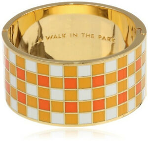 Kate Spade New York Bracelet A Walk in the Park Hinged Bangle NEW