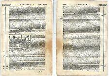 1535 MICENA Mycenae Argolis Argos Peloponnese Jacopo Bergomensis xilografia