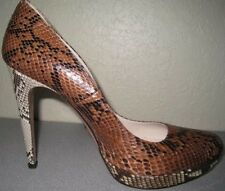 PRADA PLATFORM HEELS DECOLLETE NEW Sz 40IT/10US 2-TONE PYTHON 1IP094 Box/Dustbag