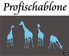 Wandschablone, Malerschablone, Schablonen, Afrikamotive, Afrika, Giraffen