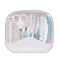 7 Pcs Newborn Baby Nursery Care Kit Nail Hair Brush & Comb Grooming Set