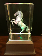 Horse 3D Laser Crystal Block With LED Colour Change Base Night Light (12)