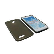 Custodia in silicone TPU trasparente per Alcatel One Touch Scribe HD, Nero