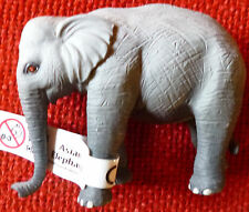 ZOO ANIMAL REPLICAS ASIAN ELEPHANT Small Replica - Size 8 cm long by 6 cm high