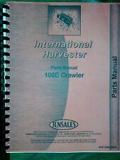 Ih International 100e Crawler Loader Parts Manual Catalog Diesel