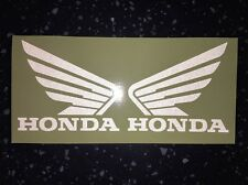 2x HONDA WINGS Reflective SAFETY Motorcycle Helmet Sticker Graphic TT visibility