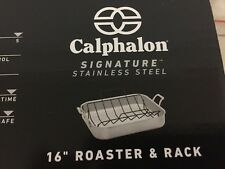 New Calphalon  13x16-in. Signature Roaster Stainless Steel