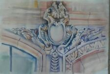 Architectural Relief Los Angeles Original Watercolor Painting~ RAMfish Artist