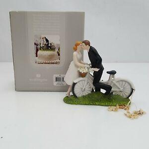 A Kiss Above Bicycle - Bride & Groom - Couple Figurine Weddingstar
