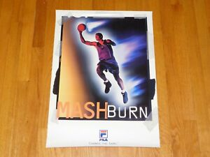 Jamal Mashburn Fila Basketball Sneaker Shoe Store Promo Poster Man Cave Display