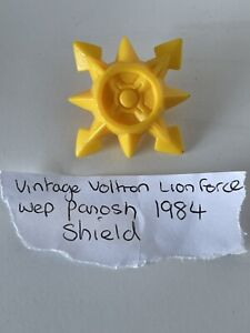 Vintage LJN Voltron Lion Force Assembler Yellow Star Shield Accessory 1986