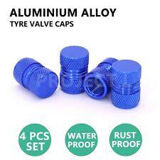 Wheel Tyre Valve Stems Caps Blue 4pcs Car Air Dust Cover Screw Caps Truck Bike