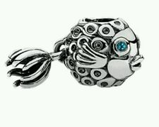 Genuine Pandora Splish Splash Fish Deep Topaz Charm 791108TPP $60