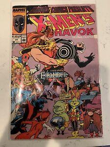 X MENS HAVOK THE FINAL CHAPTER #31 MARVEL COMIC BOOK (1989)