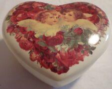 Heart Trinket Jewelry Box Teleflora Lidded Angel Ceramic Valentines Day Love