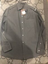 NEW WITH TAGS 100% AUTHENTIC LOUIS VUITTON GRAY BUTTON DOWN RARE SIZE XL