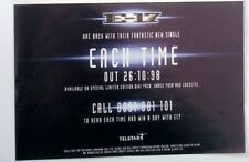 E-17 'Each Time' magazine ADVERT / Poster 8x6 inches