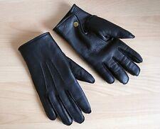GLAD HAND Deerskin Leather Gloves / Hirschleder Handschuhe, Schwarz, Gr. M, NEU