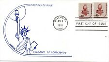 US FDC #1594 Liberty Torch, Wesson (7856)