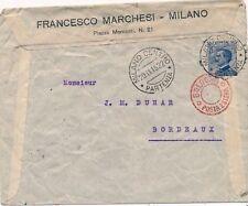 Lettre Milano Francesco Marchesi Bologna Posta Estera Italy Italia Cover Brief