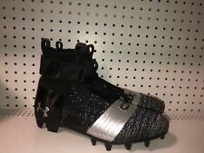 Under Armour C1N MC Mens Football Cleats Size 11.5 Black Chrome Cam Newton