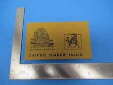 Vintage Souvenir Postcard Folder Jaipur Amber India 20 Color Photos S1573
