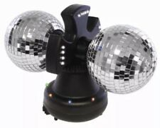 Twin Mirror Ball DJ Light Shining Glitter Disco Pub Party Occasion 4inch