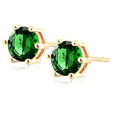 Green Littel Girls Childrens Kids Womens Stud Earrings Earings Jewelry Gold