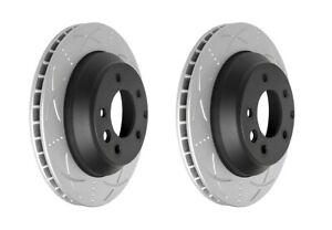Bendix Ultimate Slotted & Dimpled Brake Rotor Pair Rear BR2245