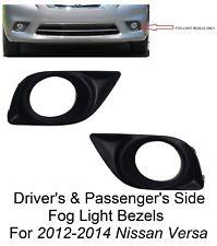 DRIVER & PASSENGER SIDE REPLACEMENT FOG LIGHT BEZELS FOR 2012-2014 NISSAN VERSA