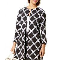 ALFANI NEW Women's Piece Plaid Pattern Basic Jacket Top TEDO