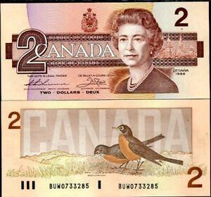 Canada 2 Dollars 1986 P 94 b Thiessen-Crow UNC Lot 5 Pcs
