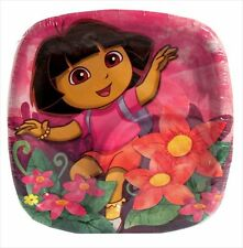 DORA THE EXPLORER Floral SMALL PLATES (8) ~ Birthday Party Supplies Cake Dessert
