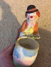 Hobo Luvkins Clown Over Fire Pit Candle Holder