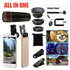 All In 1 Phone Camera Selfie Tripod Travel Kit Telephoto Lens For iPhone Samsung