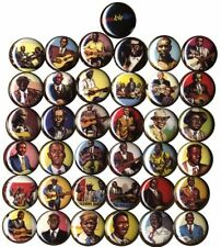 Complete Heroes of the Blues set of 37 Buttons-Pins-Badges >R. Crumb Cards<