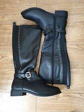 Womens Carvela Black Leather Boots Uk 6 EU 39
