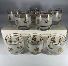 Libby Vintage Glass Set In Box Mid Century Low Ball Glasses/Tumblers (8) barware