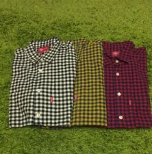 Supreme S/S 2014 Lightweight Flannel Gingham Shirt Tee Top Wool Plaid S M