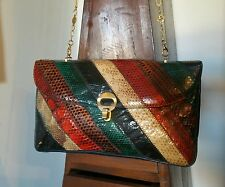 BORSA RETTILE VINTAGE PELLE ITALY BAG PURSE perfect TOP ANNI 70 ORIGINALE