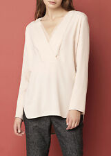 By MALENE BIRGER 'Triply' blouse silk trim top shirt champagne luxe size 34 #403