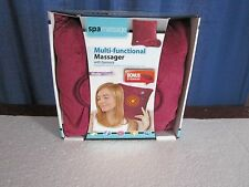 Spa Massage Burgundy Multi-functional Massager Pillow with Bonus Eye-mask NIB