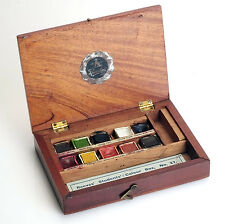 ANTIQUE BOX WATERCOLOUR PAINTS REEVES & SONS  STUDENTS COLOUR BOX NO 27