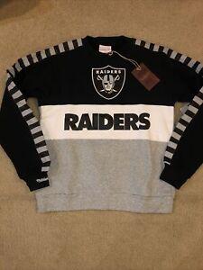 Oakland Raiders Mitchell & Ness NFL Leading Scorer Fleece Crew Sweatshirt Sz S