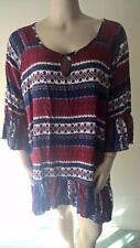 WOMENS NEW STUNNING CROSSROADS SIZE 22 GYPSY STRIPE TUNIC NEW WITH TAG