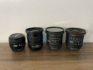 Lot of 4 Camera Lenses Lens for Nikon EX SIGMA & Nikkor AS IS Untested