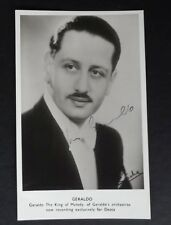 Geraldo the King of Melody. Bandleader. Autograph. Signed photo postcard.